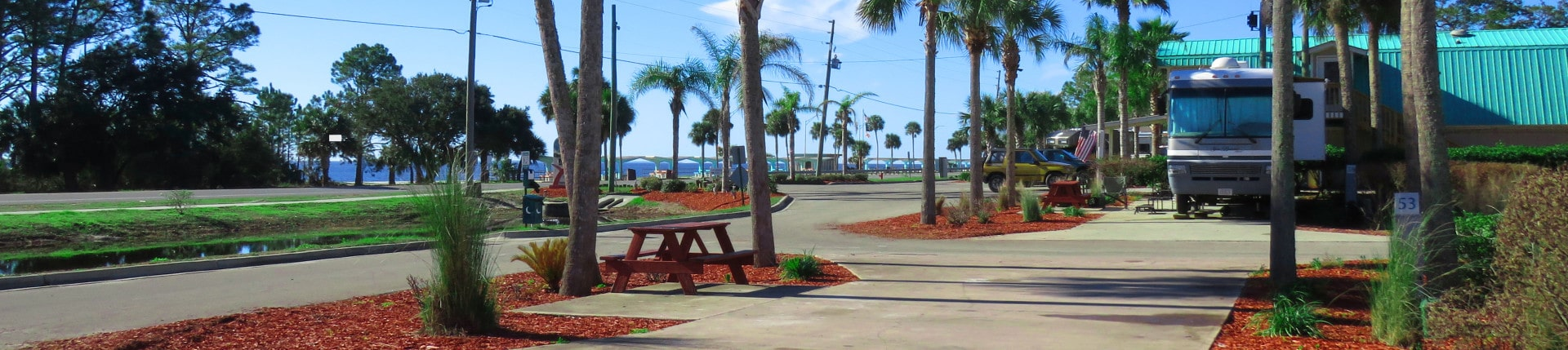 Contact Couple Walking Dog at Carrabelle Beach RV Resort - The RV Sites