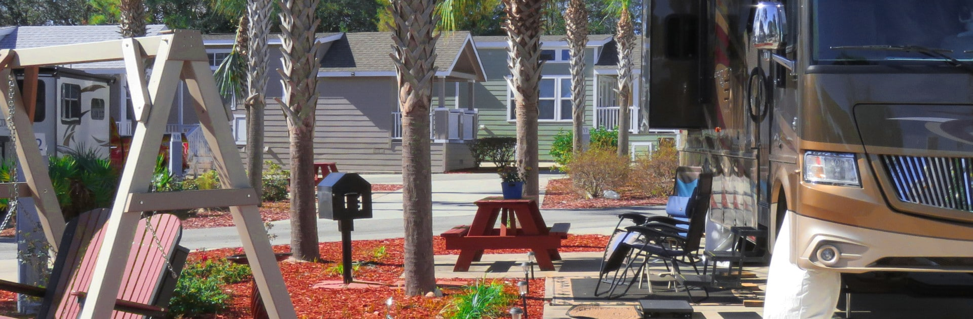 Carrabelle Beach RV Resort View of Cottages and RV Sites