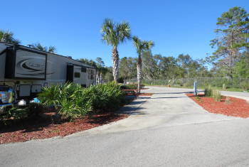 Carrabelle Beach RV Resort RV Site