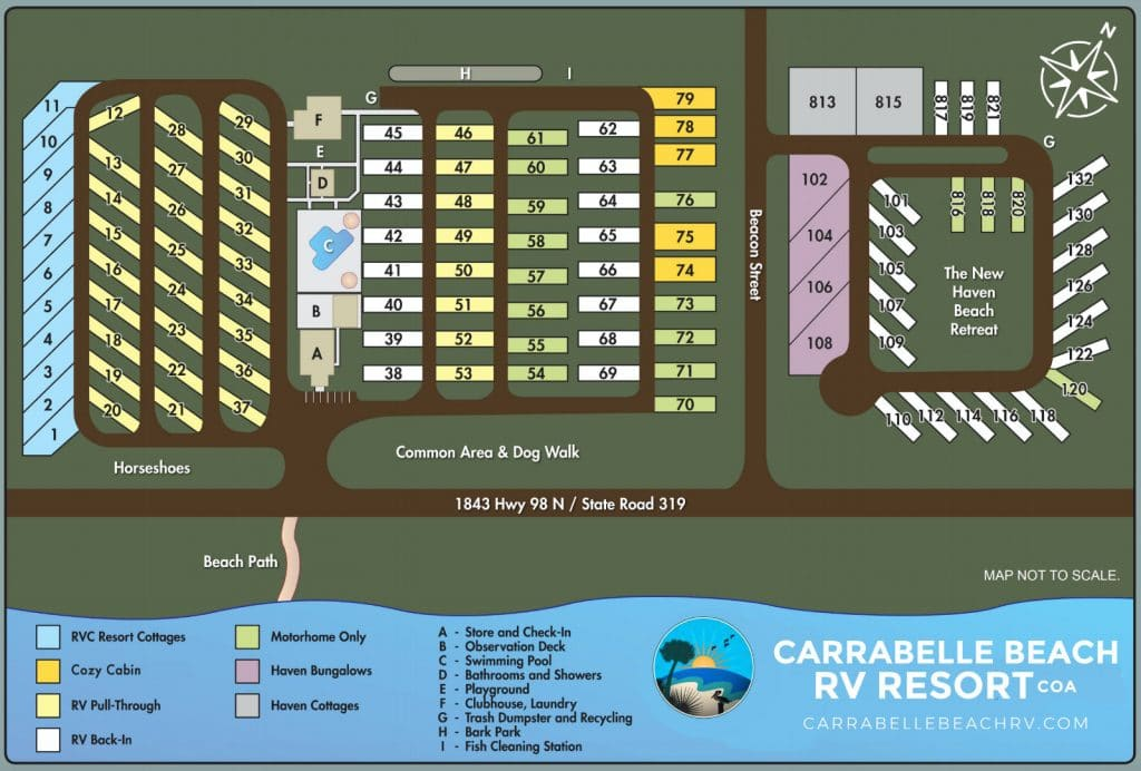 carrabelle beach rv site map